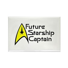 Future Starship Captain Rectangle Magnet (10 pack)
