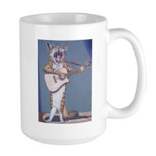 Folk Singer/Guitar Player Cat Mug