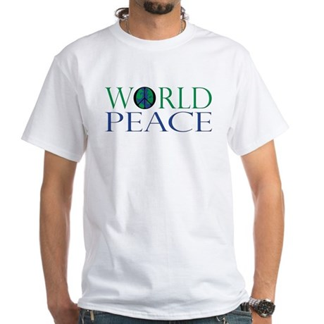 World Peace Men's White T-Shirt