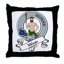 Wood Clan Badge Throw Pillow