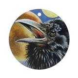 Crow Bird Ornament (Round)