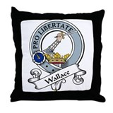 Wallace Clan Badge Throw Pillow