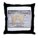 Polar Bear Photo Throw Pillow