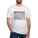 Polar Bear Photo Fitted T-Shirt