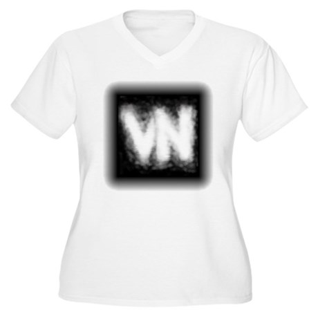 VN Logo Women's Plus Size V-Neck T-Shirt
