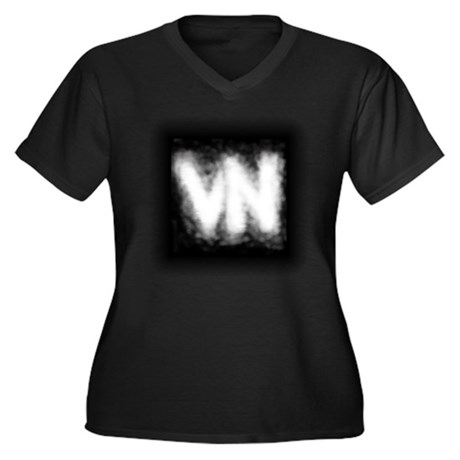 VN Logo Women's Plus Size V-Neck Dark T-Shirt