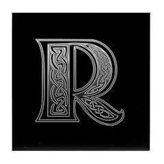 R Monogram Tile Coaster