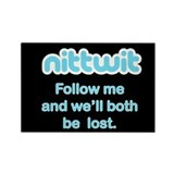 Nittwit - Follow Me Rectangle Magnet (100 pack)