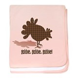 Thanksgiving Day Gobble Infant Blanket