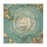 Funny Vintage map Tile Coaster