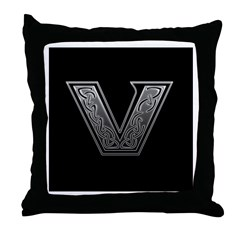 V Monogram Throw Pillow