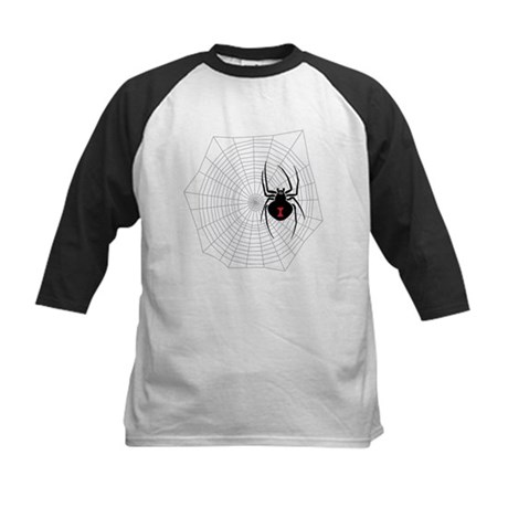Creep Crawly Spider Web Kids Baseball Jersey