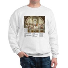 School of Athens Who is Who Sweatshirt