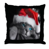 SANTA KITTY Throw Pillow