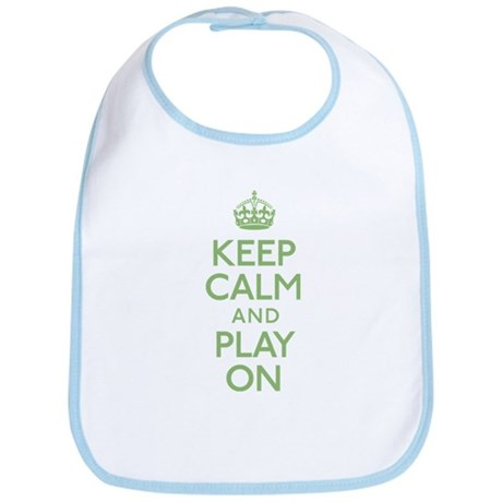 Keep Calm And Play On Bib