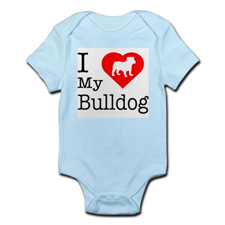 I Love My Bulldog Infant Bodysuit