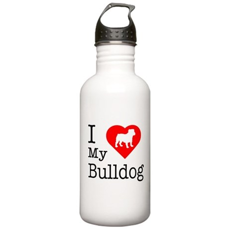 I Love My Bulldog Stainless Water Bottle 1.0L