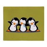 Penguins (together) Throw Blanket
