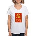 Barack Socialism Women's V-Neck T-Shirt
