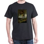 Goya Colossus Fantasy Quote Black T-Shirt