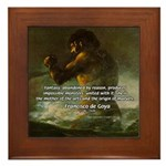 Goya Colossus Fantasy Quote Framed Tile