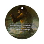Goya Colossus Fantasy Quote Ornament (Round)
