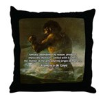 Goya Colossus Fantasy Quote Throw Pillow