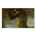 Goya Colossus Fantasy Quote Rectangle Sticker