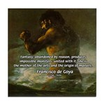 Goya Colossus Fantasy Quote Tile Coaster