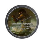 Goya Colossus Fantasy Quote Wall Clock
