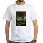 Goya Colossus Fantasy Quote White T-Shirt