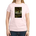 Goya Colossus Fantasy Quote Women's Pink T-Shirt