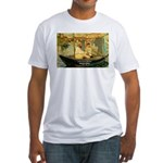 French Painter Manet Quote Fitted T-Shirt