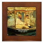 French Painter Manet Quote Framed Tile