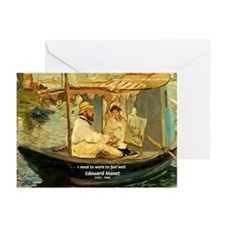 French Painter Manet Quote Greeting Cards (Package