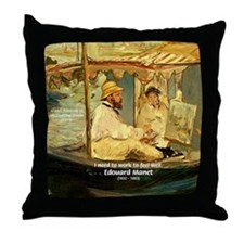 French Painter Manet Quote Throw Pillow