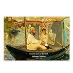 French Painter Manet Quote Postcards (Package of 8