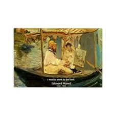 French Painter Manet Quote Rectangle Magnet