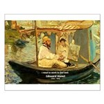 French Painter Manet Quote Small Poster