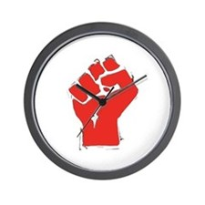 Raised Fist Wall Clock