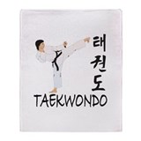 Taekwondo Throw Blanket