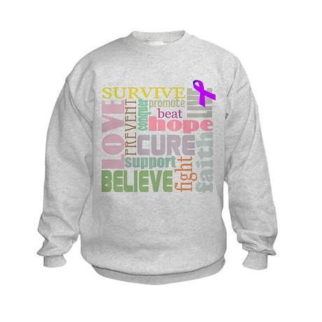 Alzheimer's Inspirational Words Kids Sweatshirt