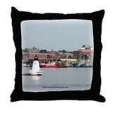 Palmer Island Lighthouse Throw Pillow