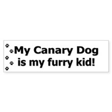 Canary Dog Furry Kid Bumper Bumper Sticker