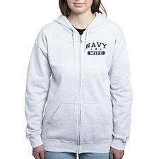 Navy Wife Zip Hoody