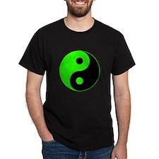 Green-Black Yin Yang T-Shirt