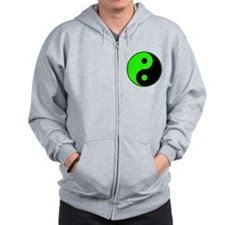 Green-Black Yin Yang Zip Hoody