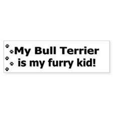 Bull Terrier Furry Kid Bumper Bumper Sticker