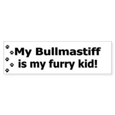 Bullmastiff Furry Kid Bumper Bumper Sticker