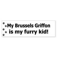 Brussels Griffon Furry Kid Bumper Bumper Sticker